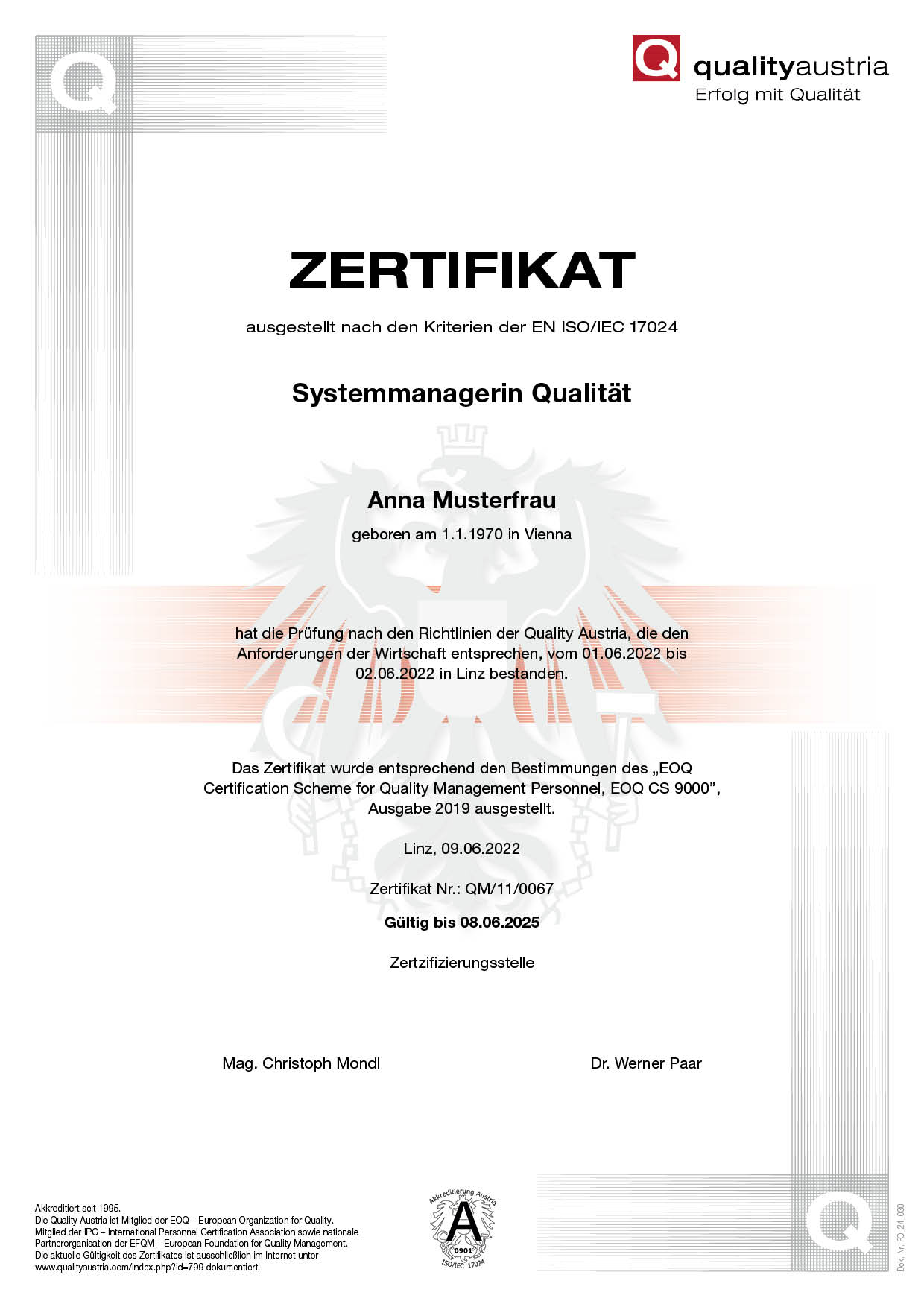 Zertifikate • Berufszertifikat • Teilnahme Zertifikate • 002