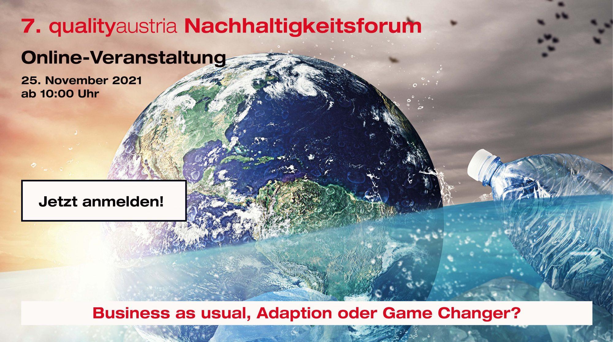 Banner für das 7. Nachhaltigkeitsforum